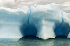 View of an iceberg floating in the water stock images