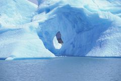View of an iceberg and Lago Argentino, Argentina Royalty Free Stock Photography