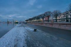 "View of the icebreaker ""Krasin"" from the dock embankment Lieutenant Schmidt Stock Photography"