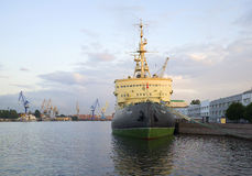 View of the icebreaker  Royalty Free Stock Photography