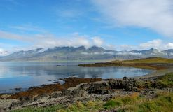 View on the Icelandic bay. View on the beautiful bay near traditional fishing village Djupivogur in Iceland Stock Image