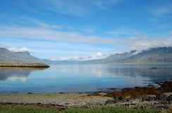 View on the Icelandic bay stock photos