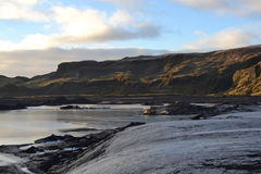 View from Icelandic Glacier Stock Image