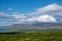 View at Icelandic plains during summertime Stock Images