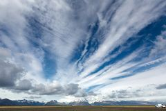 View at Icelandic plains during summertime Royalty Free Stock Image