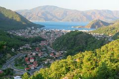 View of Icmeler, Marmaris Stock Photos