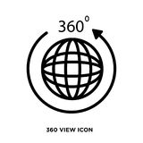 360 view icon. Isolated on white background for your mobile and web app design illustration Stock Image