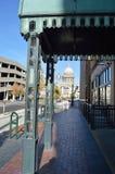 Idaho Capitol Building through art deco awning Boise Street Photography royalty free stock photo