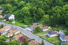 View of an idyllic hungarian village Royalty Free Stock Photos