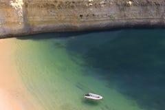 View of an idyllic wild beach in summertime stock photo