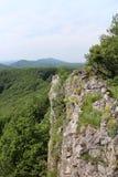 View from Čierna skala to Little Carpatians mountains Stock Photos