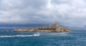 View of If castle in Mediterranean sea - France Stock Image