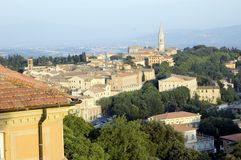 View if Perugia, Italy. View of the city of Perugia, Italy Stock Photos