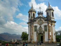 View of the Igreja de Sao Francisco de Assis, Ouro Preto, Brazil.  stock image