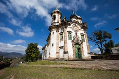 View of the Igreja de Sao Francisco de Assis of the unesco world heritage city of ouro preto in minas gerais brazil Stock Image