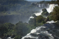 View of Iguassu falls. View of waterfalls in Argentina Stock Photos