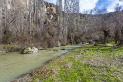 View of Ihlara valley. Turkey. Flowing river in the Ihlara valley Stock Photo