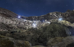 View on Ijen volcano from the bottom Stock Photo