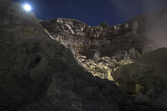 View on Ijen volcano from the bottom Royalty Free Stock Image