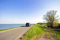 View at the IJsselmeer in the Netherlands Stock Photography