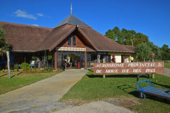 View of Ile Des Pins Island airport, New Caledonia Royalty Free Stock Photo