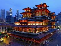 View of Illuminated City at Night Royalty Free Stock Photography