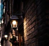 View of illuminated streetlamp Stock Photos