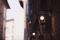 View of illuminated streetlamp Stock Photography