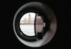 View from illuminator on Rostral Columns, Saint-Petersburg, Russia.  Stock Image