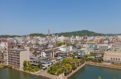 View of Imabari town, Shikoku Island, Japan Royalty Free Stock Image