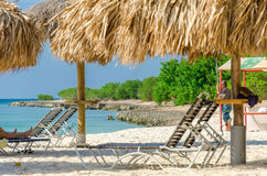 View of the image taken from eagle Beach, Aruba Royalty Free Stock Photo