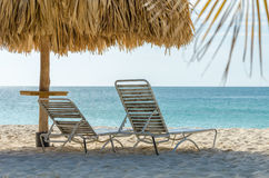 View of the image taken from eagle Beach, Aruba royalty free stock image