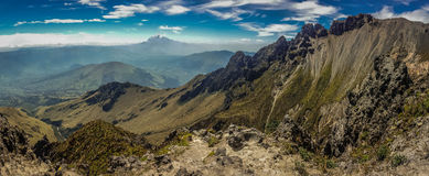 The View from Imbabura volcano in Ecuador. The awesome view from Imbabura volcano near Ibarra town, Ecuador stock image