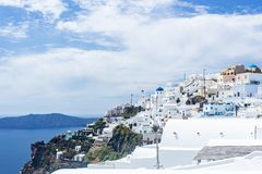 View at Imerovigli, santorini, greece stock image