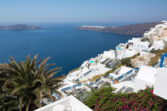 View of Imerovigli village with typical white Greek houses on Santorini island, Greece Stock Image