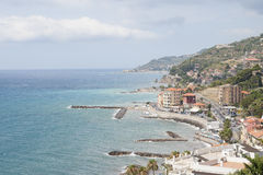 View Imperia (Italy) of the Riviera dei Fiori. Royalty Free Stock Images
