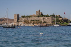 View of Important Historic Landmark, Bodrum Castle from Mugla, T Stock Images