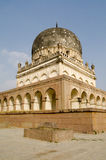 Hayath Bakshi Begum Tomb. View of the imposing tomb of Hayath Bakshi Begum, one of the famous Seven Tombs, or Qutb Shahi Tombs, built during the Mughal Empire in Stock Photos