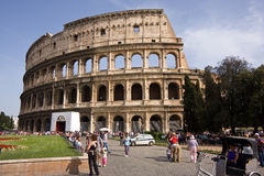 View at the impressive Colosseum Royalty Free Stock Photos