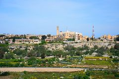 View of Imtarfa, Malta. View of the town and surrounding countryside during the Springtime, Imtarfa, Malta, Europe Stock Images