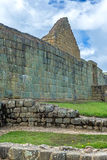 View of the Inca ruins of Ingapirca. Ecuador, on an overcast day Royalty Free Stock Images