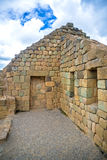View of the Inca ruins of Ingapirca. Ecuador, on an overcast day Royalty Free Stock Photos