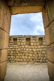 View of the Inca ruins of Ingapirca. Ecuador, on an overcast day Royalty Free Stock Image