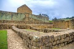 View of the Inca ruins of Ingapirca. Ecuador, on an overcast day Royalty Free Stock Photography