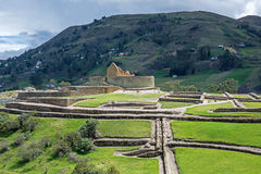 View of the Inca ruins of Ingapirca. Overall view of the ruins of Ingapirca, Ecuador, on an overcast day Stock Photos
