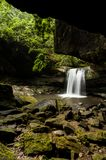 Dog Slaughter Falls - Waterfall - Daniel Boone National Forest - Southern Kentucky. A view of the incredibly scenic Dog Slaughter Falls near Cumberland Falls in Royalty Free Stock Images