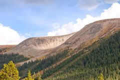 View from Independence Pass in Colorado Stock Photography