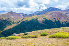 View of Independence Pass, Colorado stock images