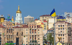 View on Independence square old buildings in Kiev,Ukraine Stock Images