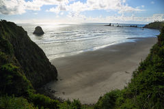 View of Indian beach in Ecola state park Royalty Free Stock Photography